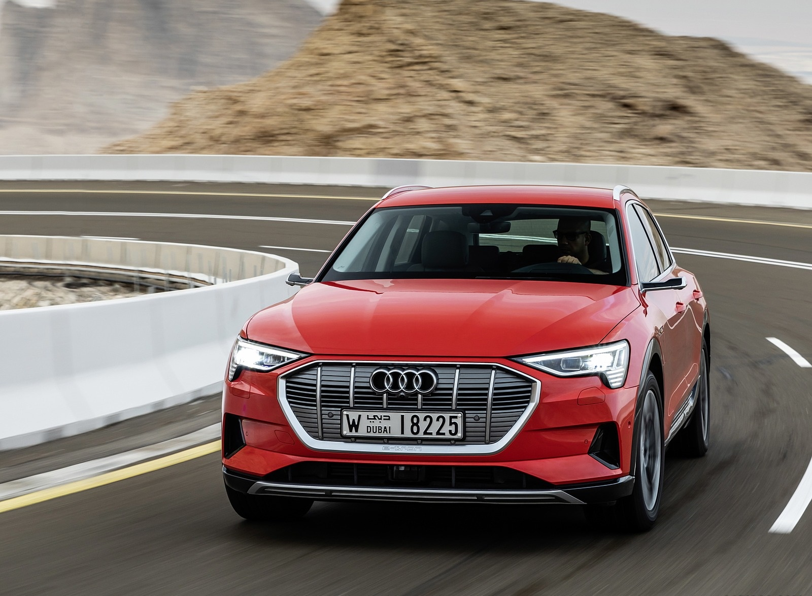 2019 Audi e-tron (Color: Catalunya Red) Front Wallpapers #1 of 234