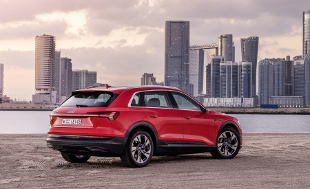 2019 Audi e-tron (Color: Catalunya Red) Rear Three-Quarter Wallpaper 450x275 (42)