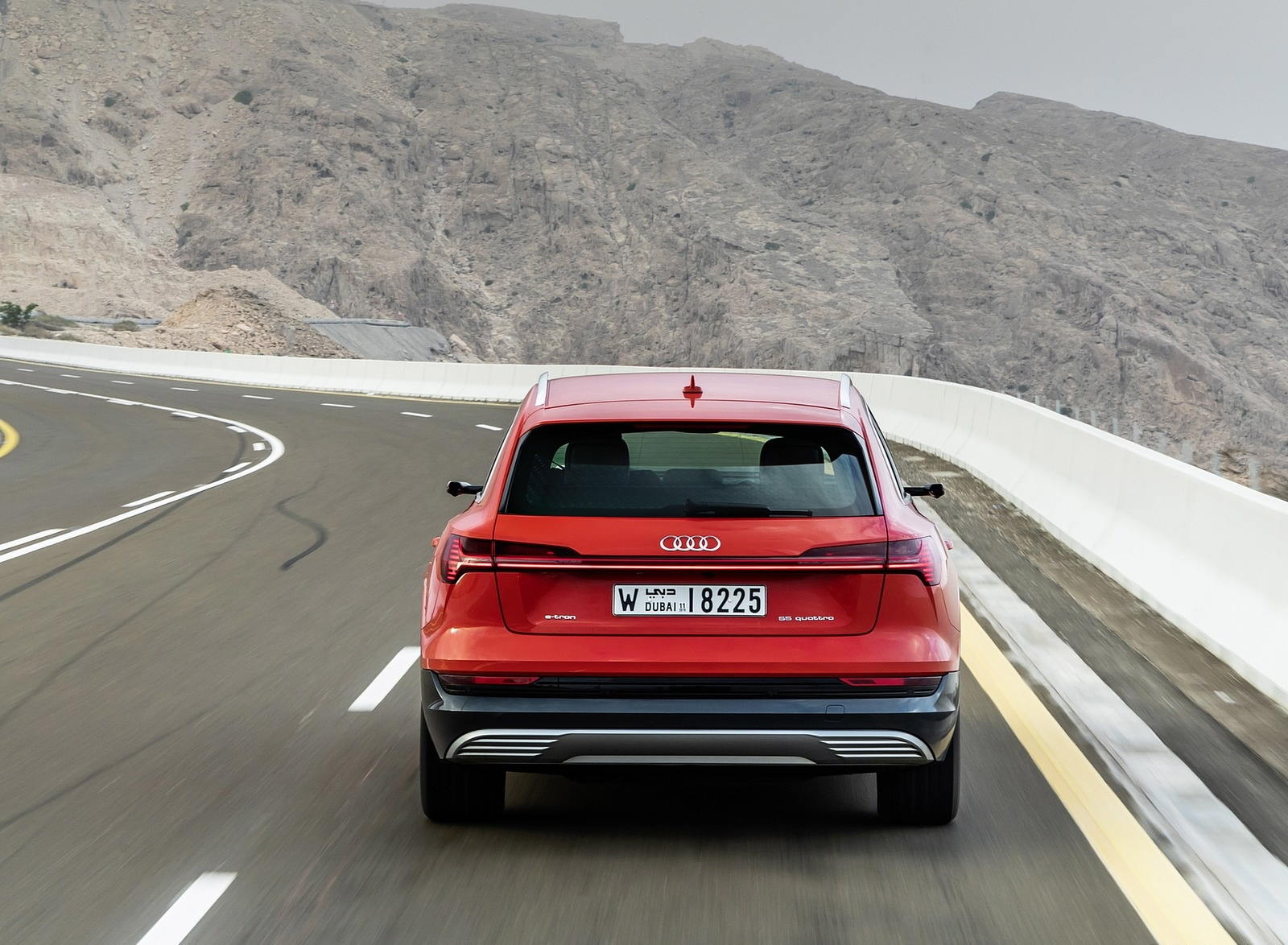 2019 Audi e-tron (Color: Catalunya Red) Rear Wallpaper (12)