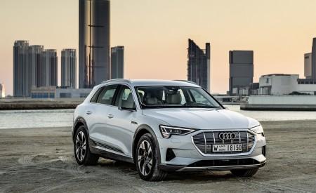 2019 Audi e-tron (Color: Glacier White) Front Three-Quarter Wallpaper 450x275 (221)