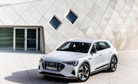 2019 Audi e-tron (Color: Glacier White) Front Three-Quarter Wallpaper 450x275 (214)