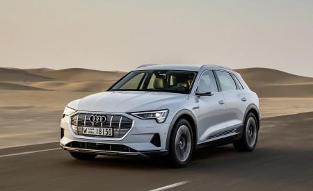 2019 Audi e-tron (Color: Glacier White) Front Three-Quarter Wallpaper 450x275 (197)