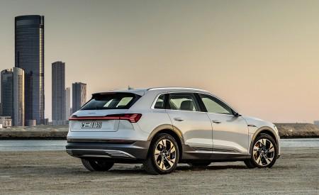 2019 Audi e-tron (Color: Glacier White) Rear Three-Quarter Wallpaper 450x275 (227)