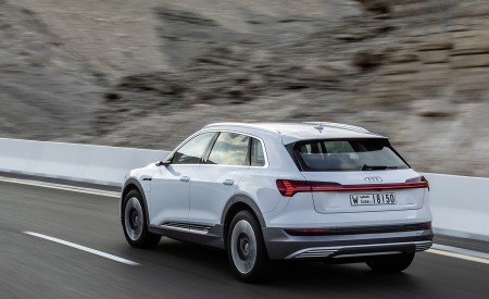 2019 Audi e-tron (Color: Glacier White) Rear Three-Quarter Wallpaper 450x275 (205)