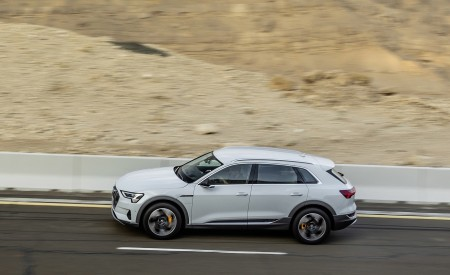 2019 Audi e-tron (Color: Glacier White) Side Wallpaper 450x275 (212)