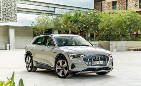 2019 Audi e-tron (Color: Siam Beige) Front Three-Quarter Wallpaper 450x275 (176)