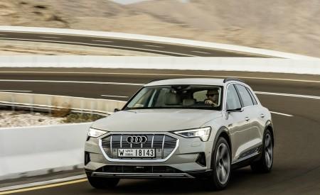 2019 Audi e-tron (Color: Siam Beige) Front Three-Quarter Wallpaper 450x275 (149)