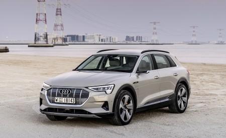 2019 Audi e-tron (Color: Siam Beige) Front Three-Quarter Wallpaper 450x275 (168)