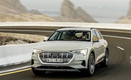 2019 Audi e-tron (Color: Siam Beige) Front Three-Quarter Wallpaper 450x275 (139)