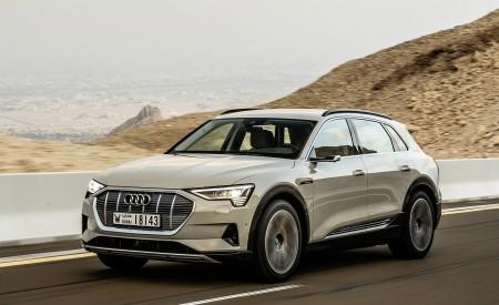2019 Audi e-tron (Color: Siam Beige) Front Three-Quarter Wallpaper 450x275 (150)