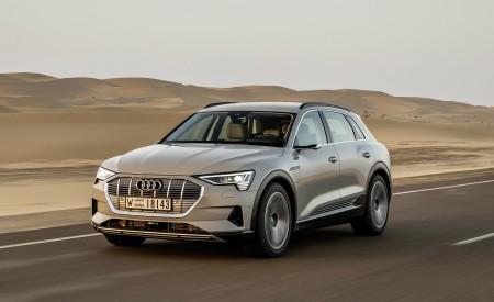 2019 Audi e-tron (Color: Siam Beige) Front Three-Quarter Wallpaper 450x275 (140)