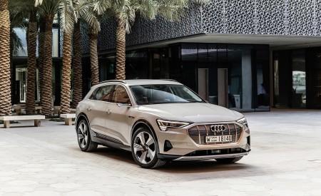 2019 Audi e-tron (Color: Siam Beige) Front Three-Quarter Wallpaper 450x275 (178)