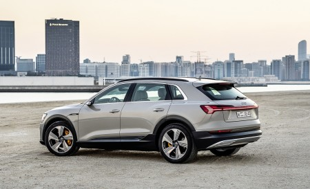 2019 Audi e-tron (Color: Siam Beige) Rear Three-Quarter Wallpaper 450x275 (171)