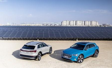 2019 Audi e-tron (Color: Siam Beige) and Audi e-tron (Color: Antigua Blue) Front Three-Quarter Wallpaper 450x275 (193)