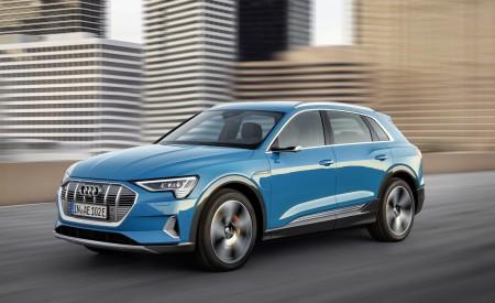 2019 Audi e-tron Electric SUV (Color: Antigua Blue) Front Three-Quarter Wallpaper 450x275 (127)