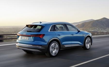 2019 Audi e-tron Electric SUV (Color: Antigua Blue) Rear Three-Quarter Wallpaper 450x275 (128)