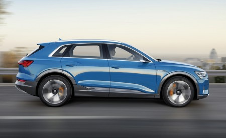 2019 Audi e-tron Electric SUV (Color: Antigua Blue) Side Wallpaper 450x275 (129)