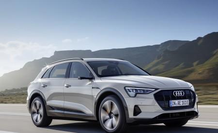 2019 Audi e-tron Electric SUV (Color: Siam Beige) Front Three-Quarter Wallpaper 450x275 (130)
