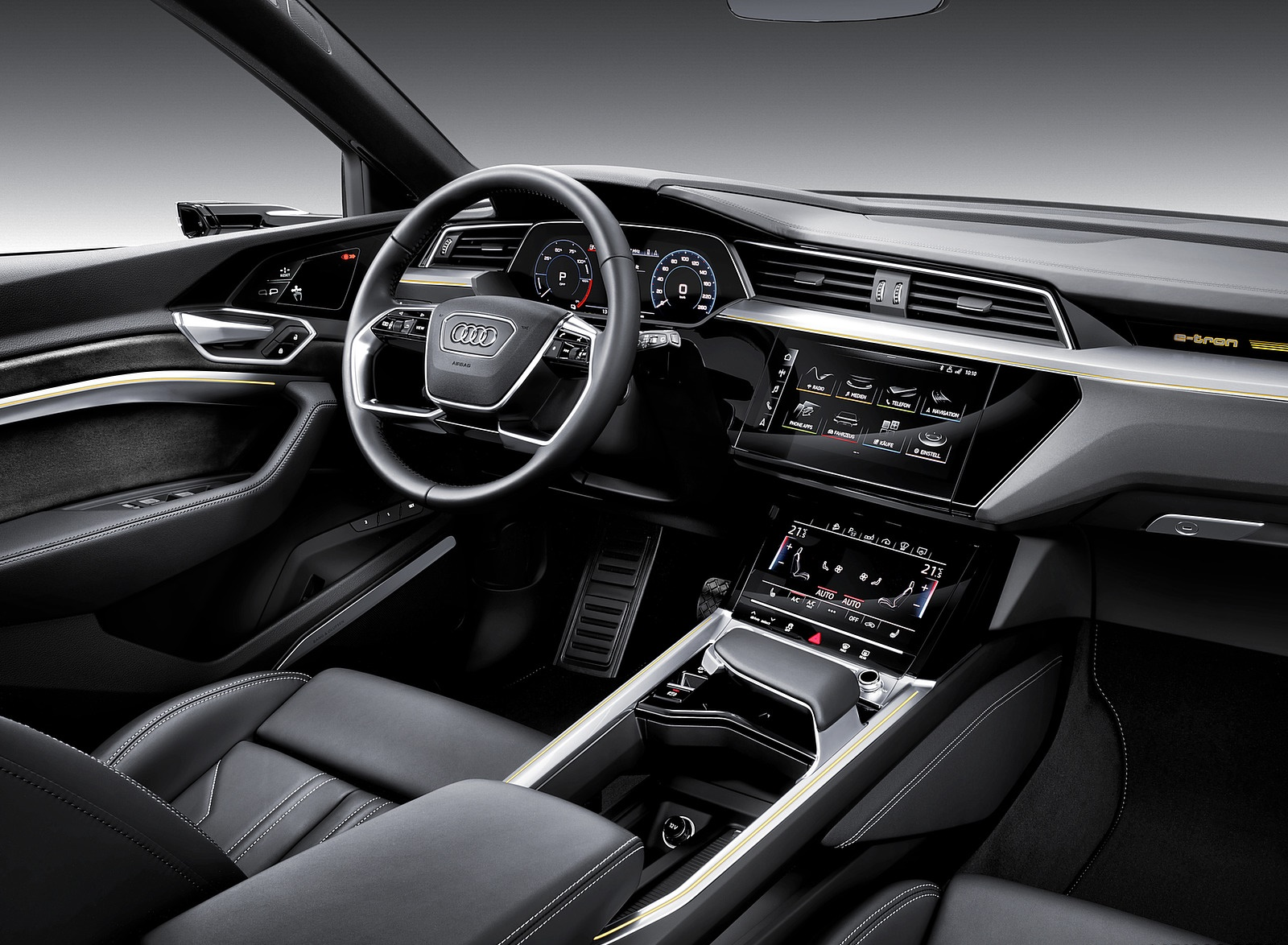 2019 Audi E Tron Electric Suv Interior Wallpapers 136 Newcarcars