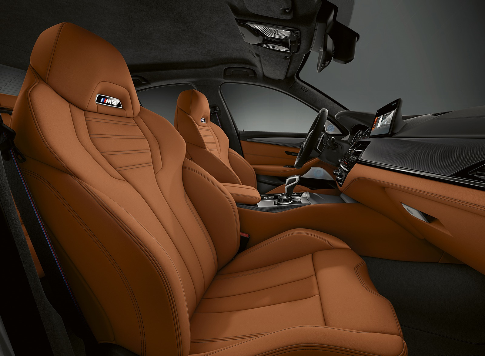 2019 BMW M5 Competition Interior Front Seats Wallpapers (15)