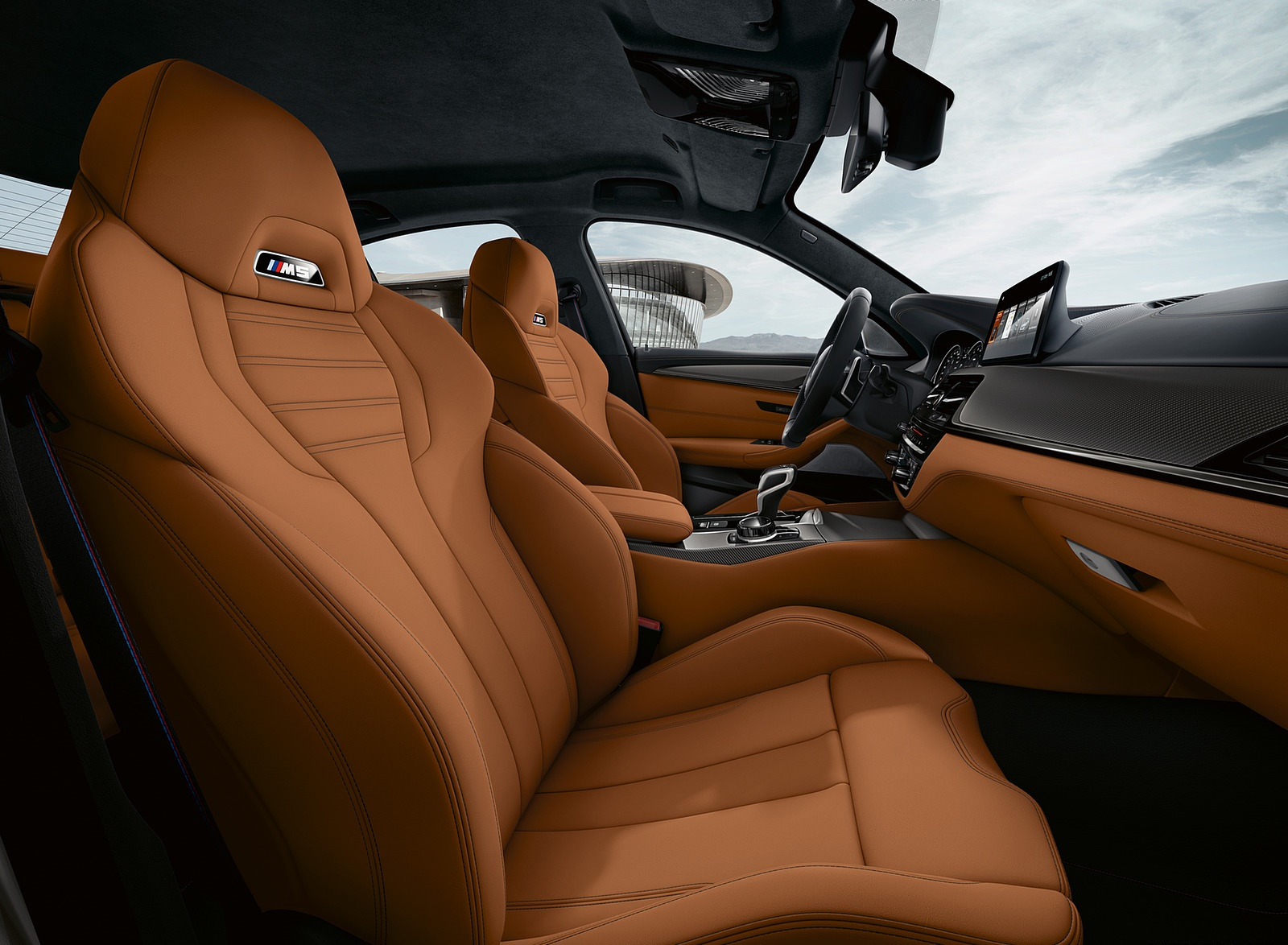 2019 BMW M5 Competition Interior Front Seats Wallpaper (14)