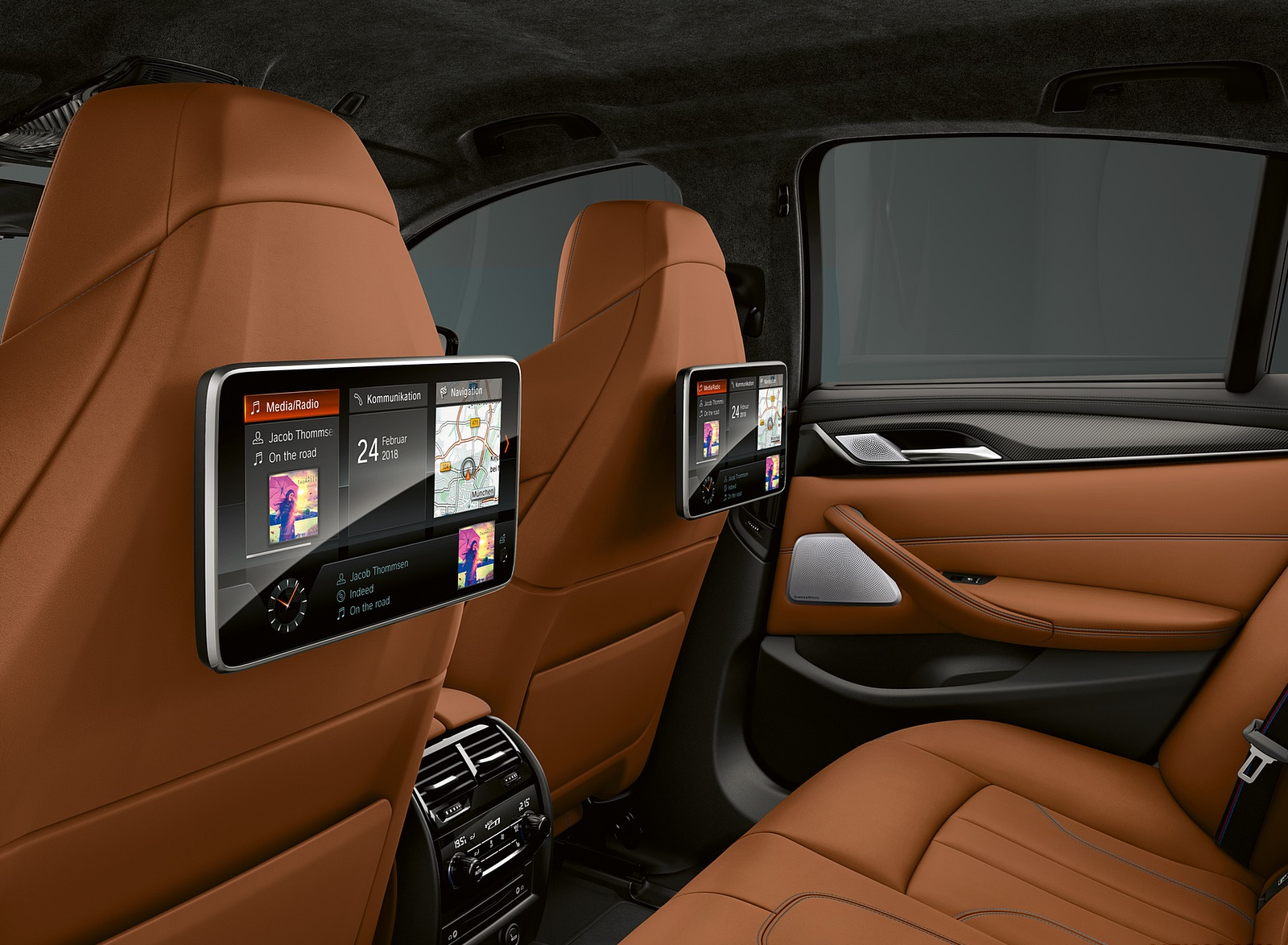 2019 BMW M5 Competition Rear Seat Entertainment System Wallpapers (11)