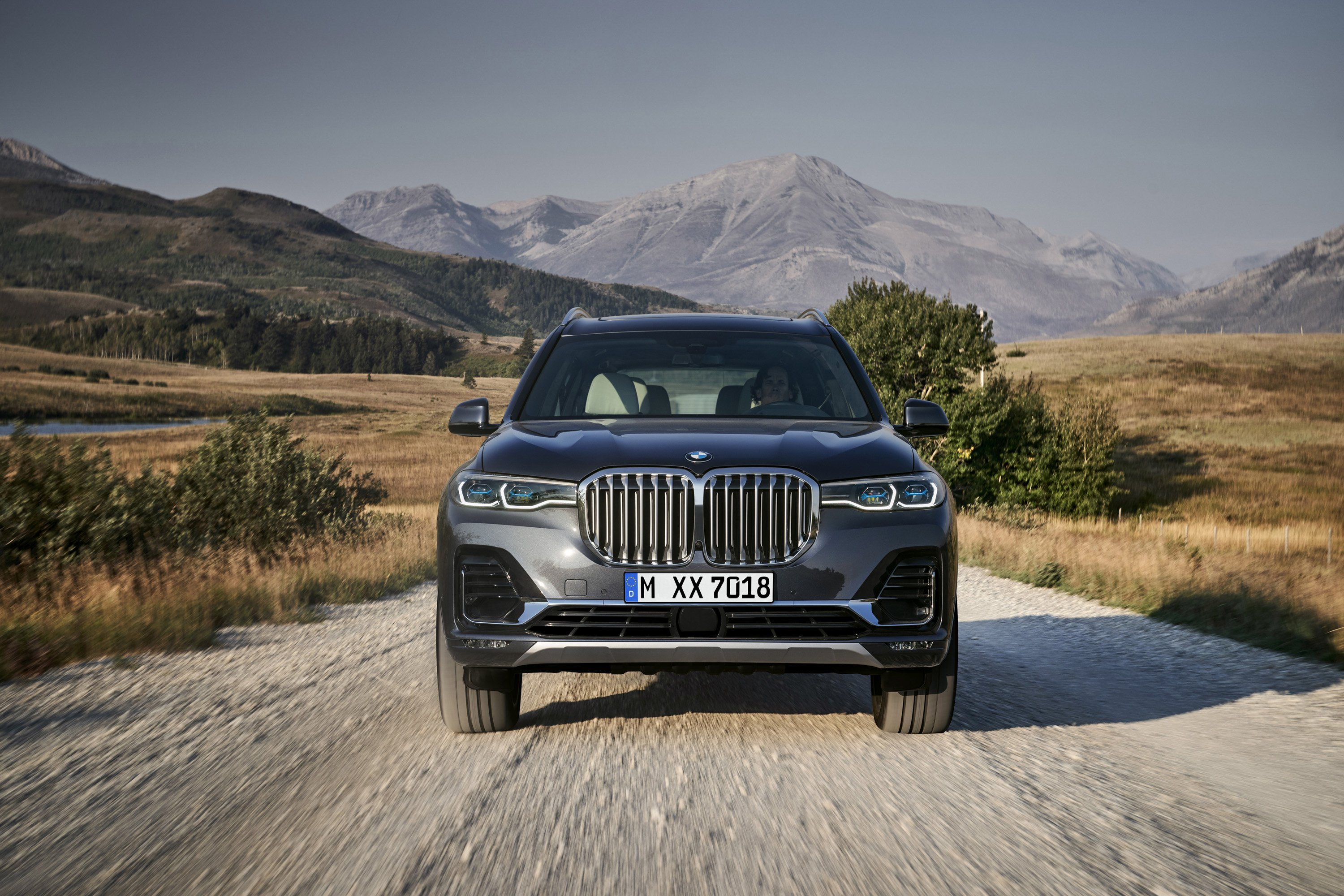 2019 BMW X7 (Color: Arctic Grey) Front Wallpaper (11)