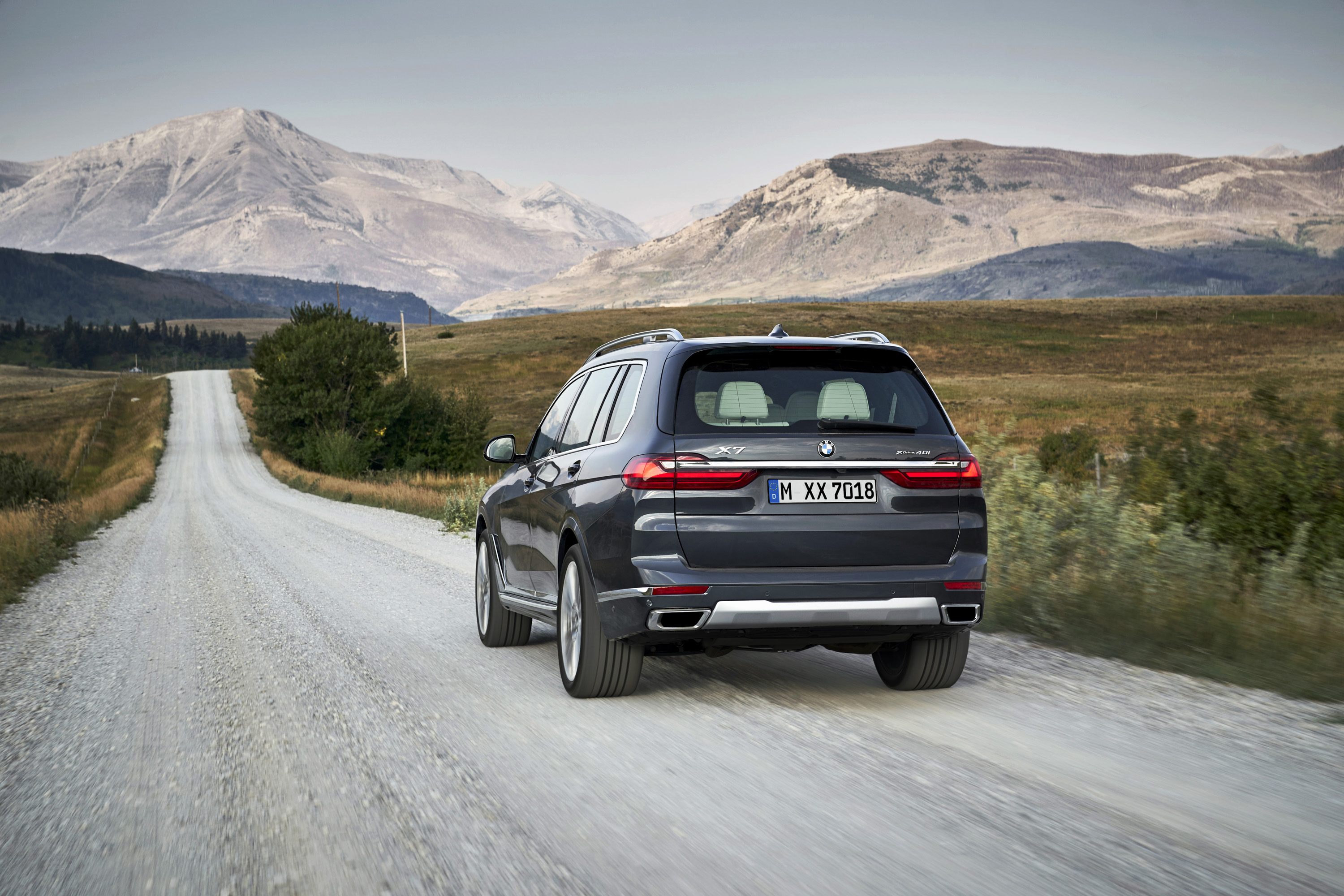 2019 BMW X7 (Color: Arctic Grey) Rear Wallpaper (6)