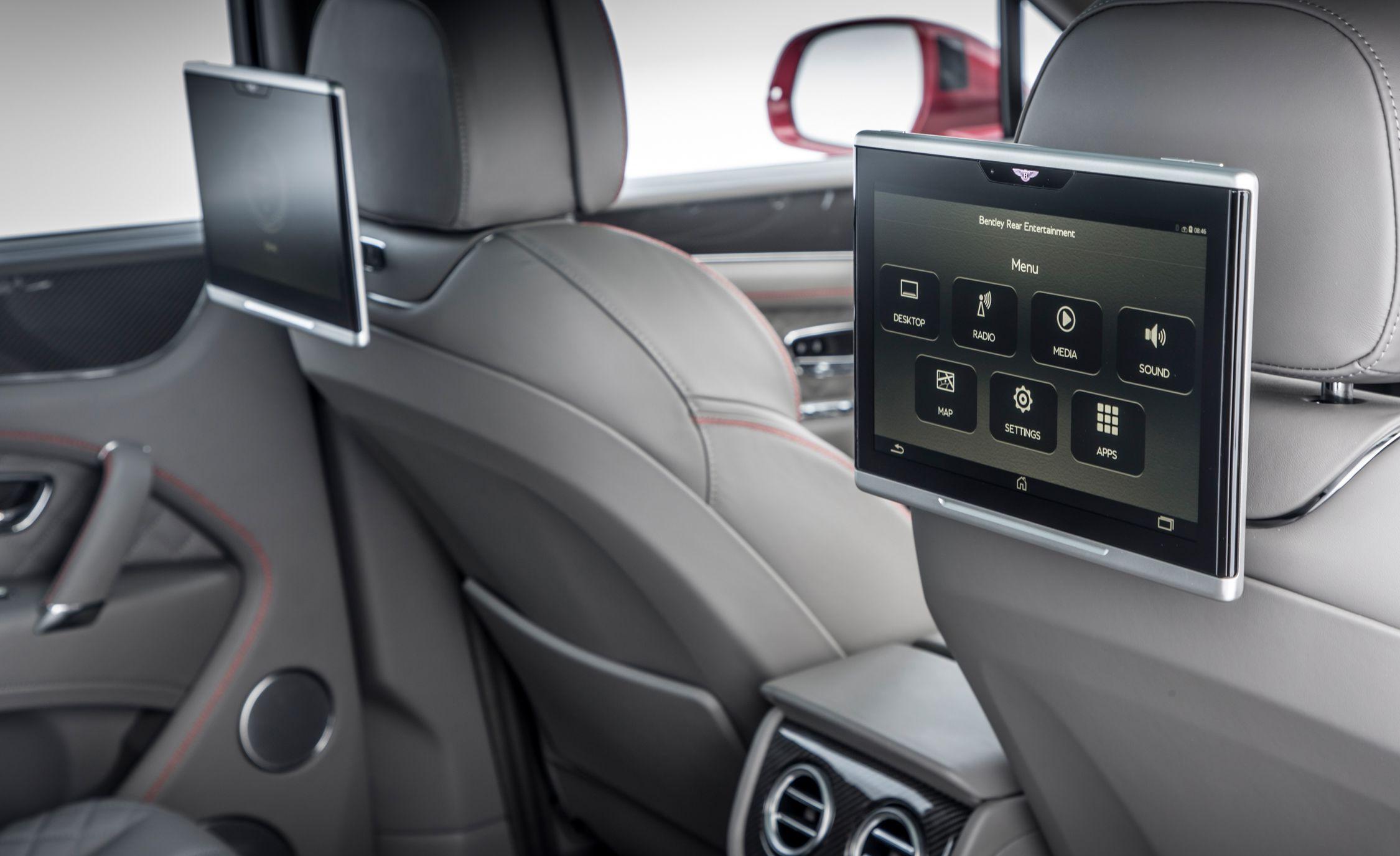 2019 Bentley Bentayga V8 Interior Rear Seat Entertainment Wallpapers 39 Newcarcars