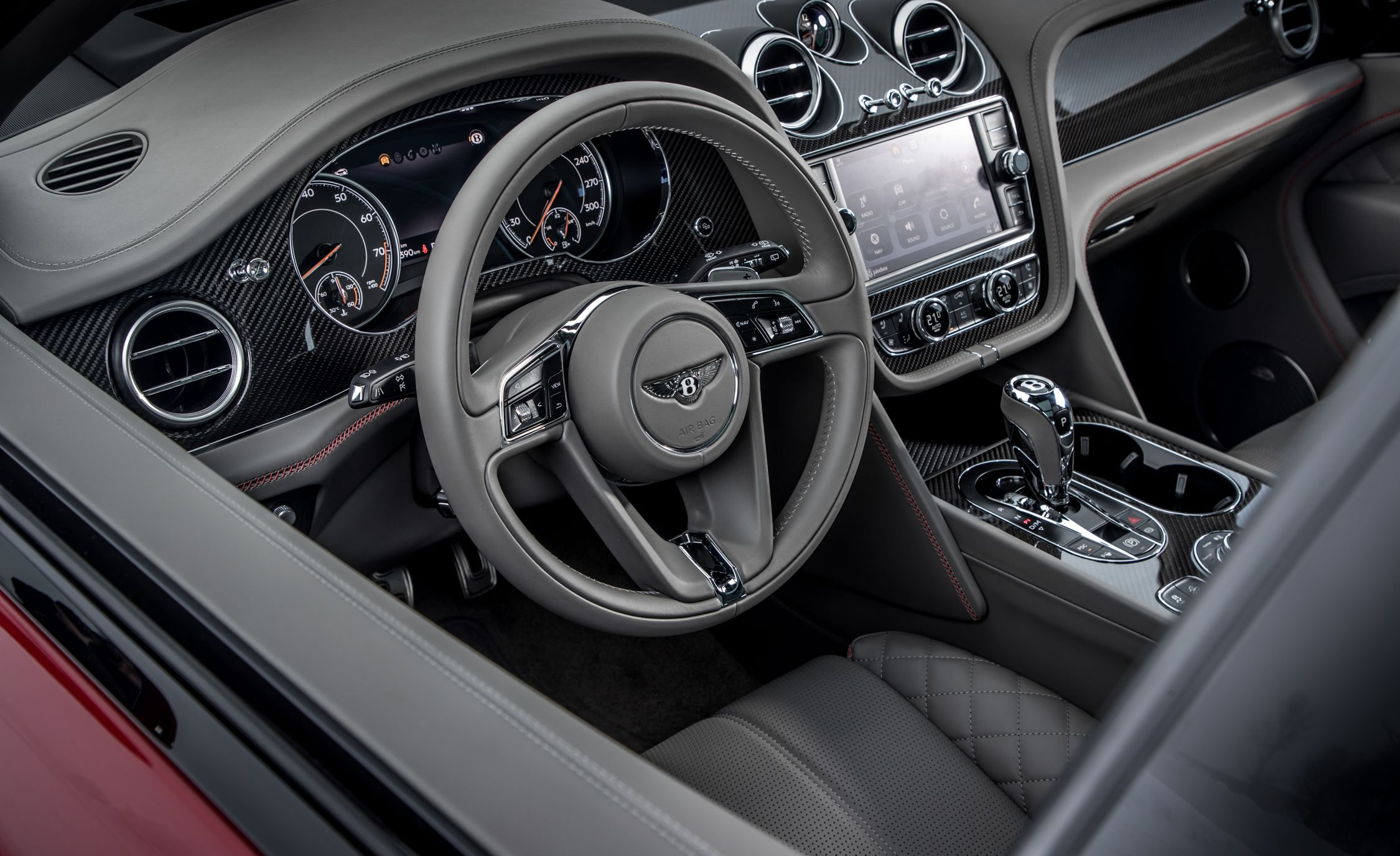 2019 Bentley Bentayga V8 Interior Steering Wheel Wallpapers 37 Newcarcars