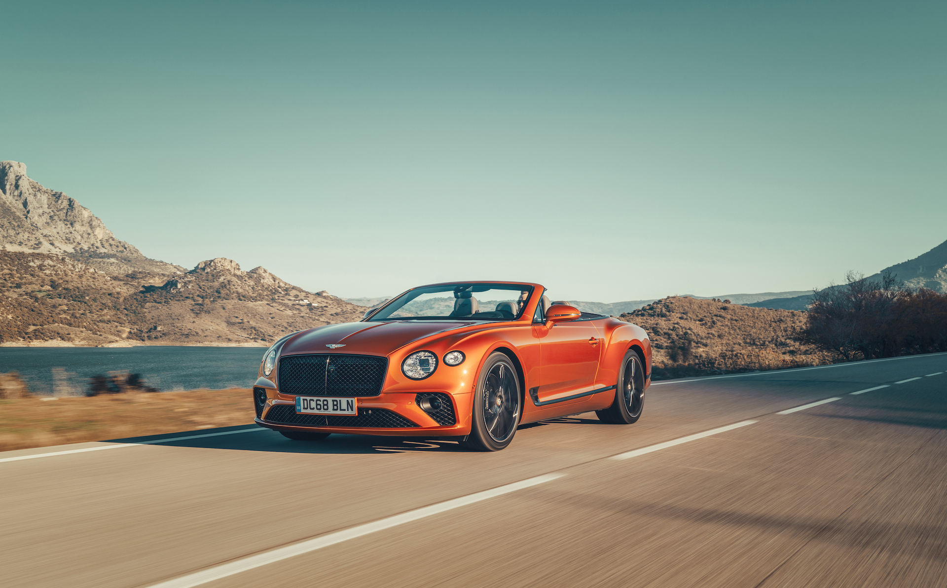 2019 Bentley Continental GT Convertible (Color: Orange Flame) Front Three-Quarter Wallpaper (1)