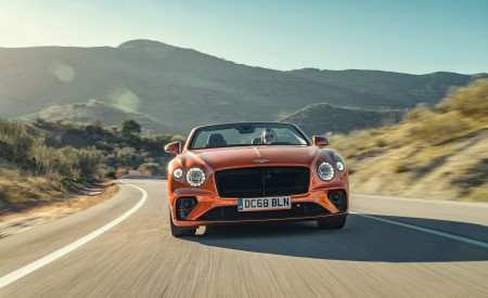 2019 Bentley Continental GT Convertible (Color: Orange Flame) Front Wallpaper 450x275 (4)