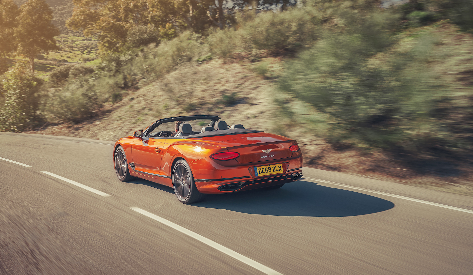 2019 Bentley Continental GT Convertible (Color: Orange Flame) Rear Three-Quarter Wallpaper (5)