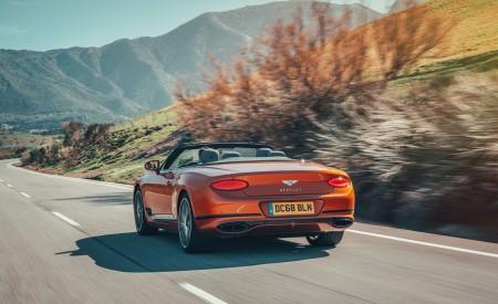 2019 Bentley Continental GT Convertible (Color: Orange Flame) Rear Three-Quarter Wallpaper 450x275 (7)