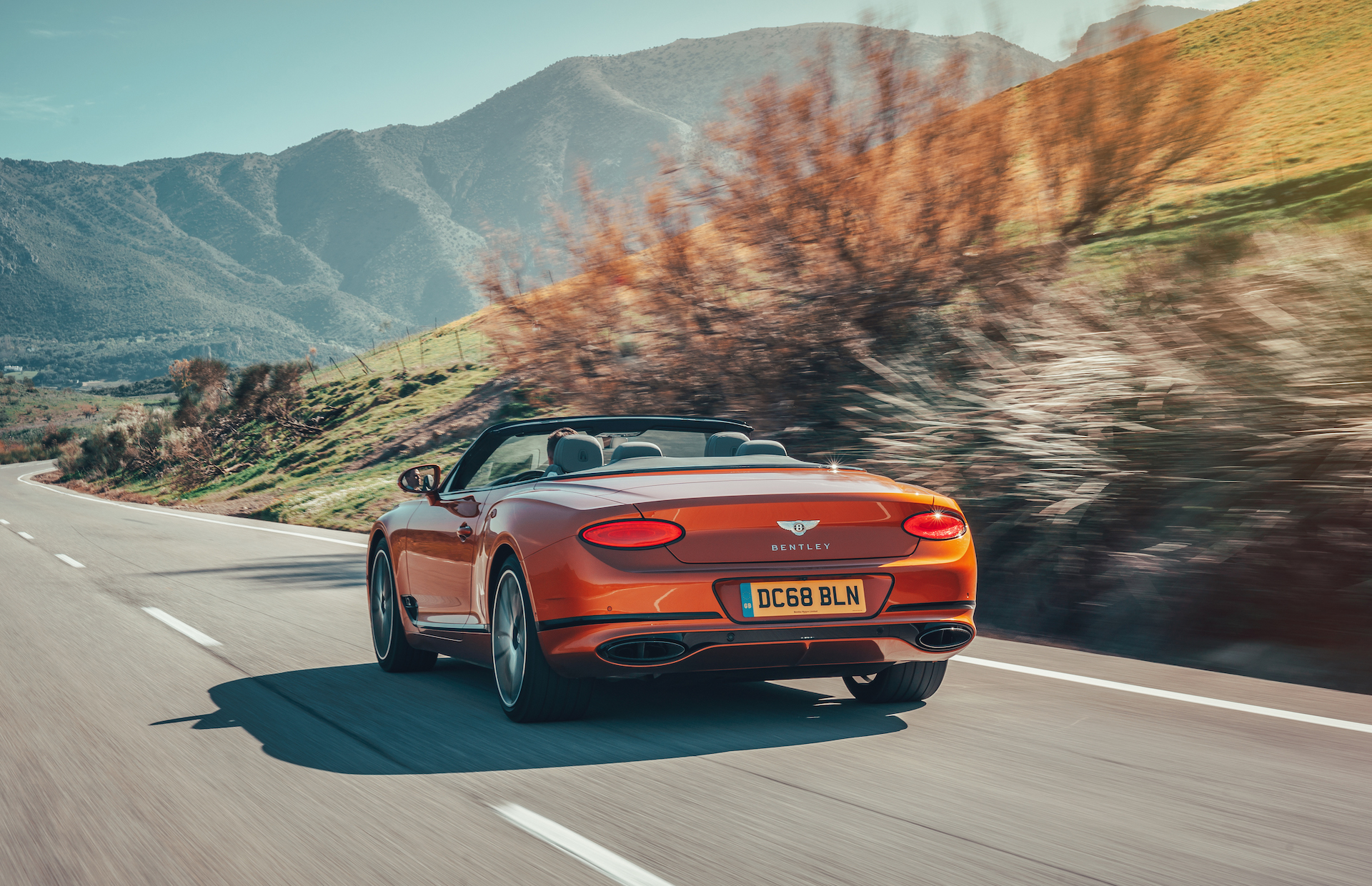 2019 Bentley Continental GT Convertible (Color: Orange Flame) Rear Three-Quarter Wallpaper (7)
