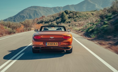 2019 Bentley Continental GT Convertible (Color: Orange Flame) Rear Wallpaper 450x275 (8)