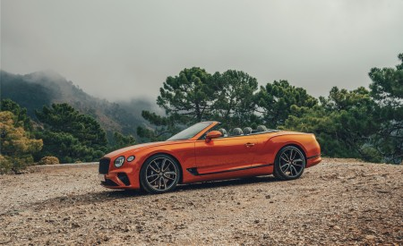 2019 Bentley Continental GT Convertible (Color: Orange Flame) Side Wallpaper 450x275 (13)