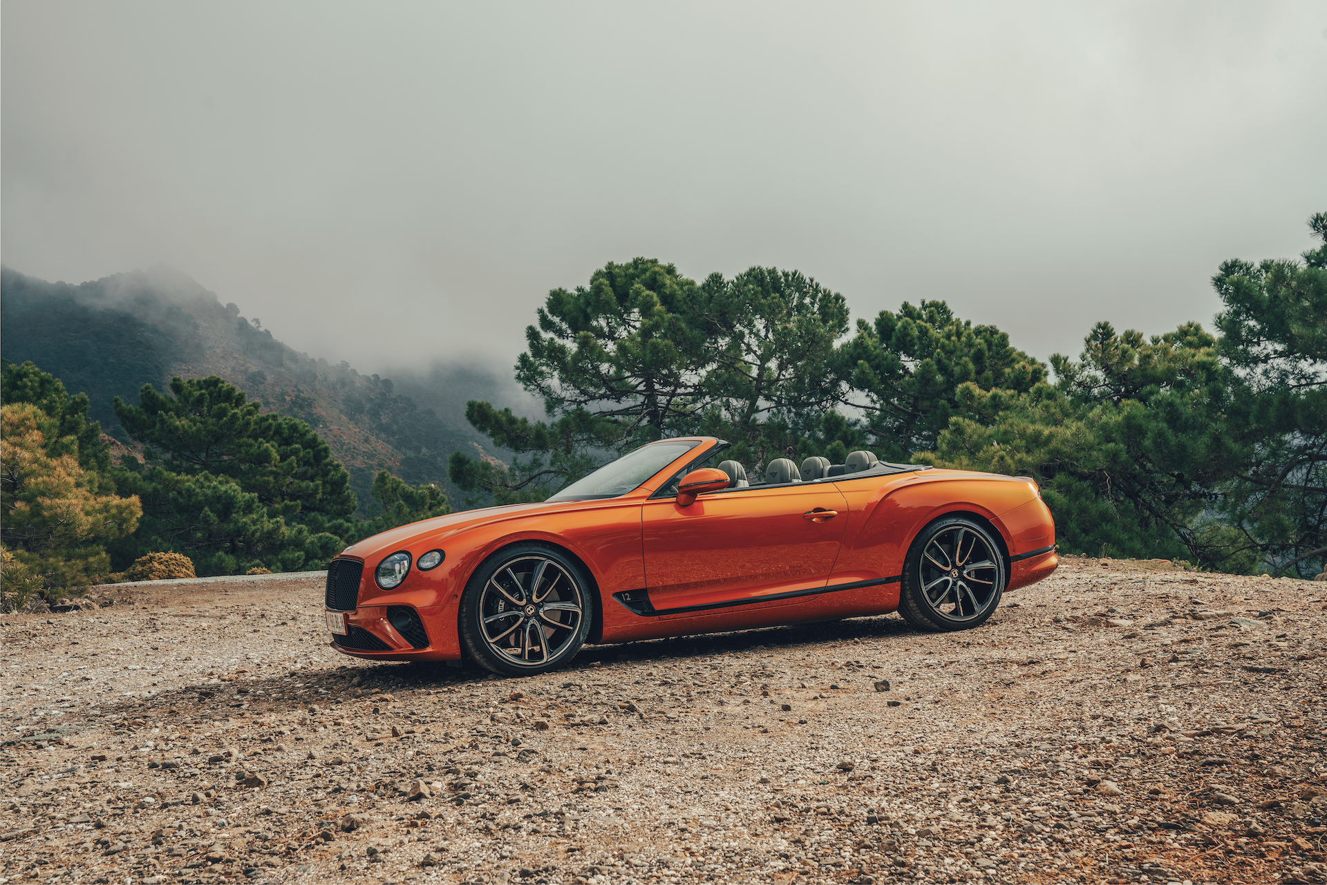 2019 Bentley Continental GT Convertible (Color: Orange Flame) Side Wallpaper (13)