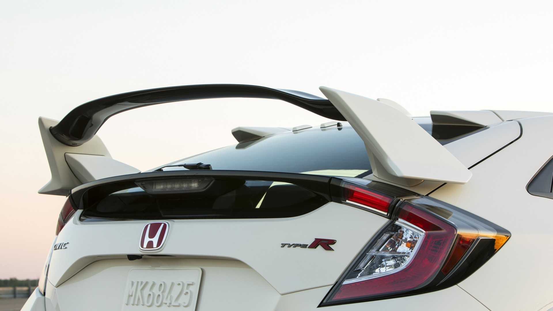 2019 Honda Civic Type R Color White Orchid Pearl Spoiler Wallpapers 171 Newcarcars