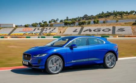 2019 Jaguar I-PACE (Color: Cesium Blue) Front Three-Quarter Wallpapers 450x275 (118)