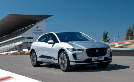 2019 Jaguar I-PACE (Color: Indus Silver) Front Three-Quarter Wallpapers 450x275 (141)