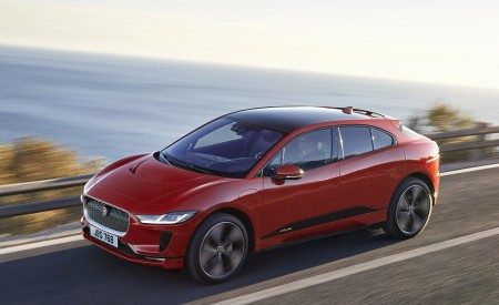 2019 Jaguar I-PACE (Color: Photon Red) Front Three-Quarter Wallpapers 450x275 (80)