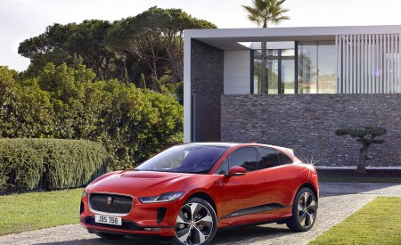 2019 Jaguar I-PACE (Color: Photon Red) Front Three-Quarter Wallpapers 450x275 (88)