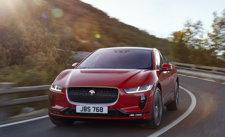 2019 Jaguar I-PACE (Color: Photon Red) Front Three-Quarter Wallpapers 450x275 (82)