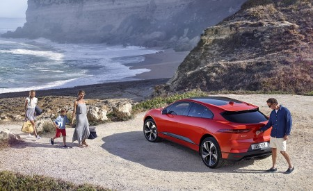 2019 Jaguar I-PACE (Color: Photon Red) Rear Three-Quarter Wallpapers 450x275 (91)