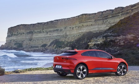 2019 Jaguar I-PACE (Color: Photon Red) Rear Three-Quarter Wallpapers 450x275 (93)