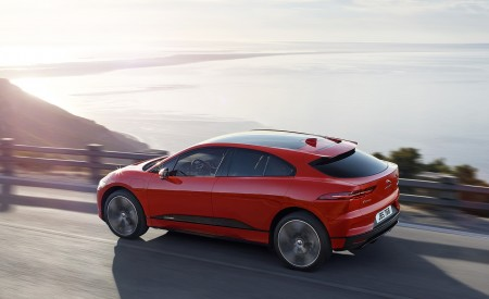 2019 Jaguar I-PACE (Color: Photon Red) Rear Three-Quarter Wallpapers 450x275 (84)