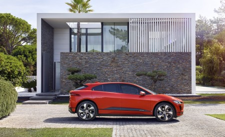 2019 Jaguar I-PACE (Color: Photon Red) Side Wallpapers 450x275 (94)