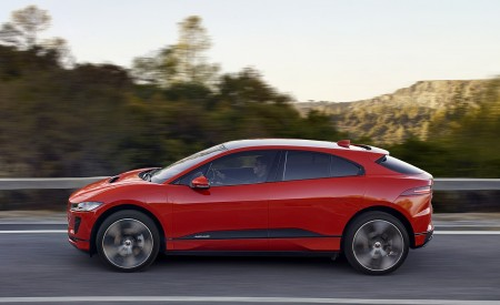 2019 Jaguar I-PACE (Color: Photon Red) Side Wallpapers 450x275 (86)