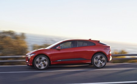 2019 Jaguar I-PACE (Color: Photon Red) Side Wallpapers 450x275 (87)
